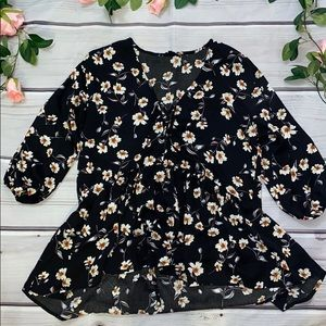 Lucca Couture High Low Floral Top